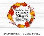 thanksgiving day greeting card... | Shutterstock .eps vector #1225159462