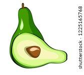 avocado vegetable in cartoon... | Shutterstock .eps vector #1225165768