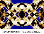 rococo intricate panel with... | Shutterstock . vector #1225175032
