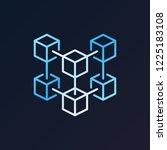 blockchain crypto technology... | Shutterstock .eps vector #1225183108