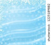 blue winter background with... | Shutterstock . vector #1225189882