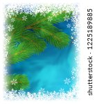 winter holiday greeting card.... | Shutterstock . vector #1225189885