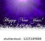 winter holiday greeting card.... | Shutterstock . vector #1225189888