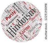 vector conceptual hinduism ... | Shutterstock .eps vector #1225193098