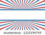 memorial day sale banner... | Shutterstock .eps vector #1225194745