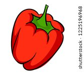 red pepper icon. cartoon of red ... | Shutterstock . vector #1225196968