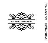 wedding ornament vector...   Shutterstock .eps vector #1225205758