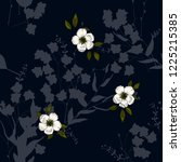 trendy seamless flower pattern. ... | Shutterstock .eps vector #1225215385