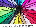 colored opened umbrella... | Shutterstock . vector #1225215778
