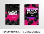 black friday sale inscription... | Shutterstock .eps vector #1225220032