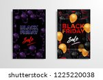black friday sale inscription... | Shutterstock .eps vector #1225220038