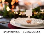 close up of christmas table... | Shutterstock . vector #1225220155