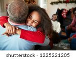 granddaughter giving... | Shutterstock . vector #1225221205