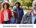 multi generation family on... | Shutterstock . vector #1225221232