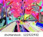 digital painting of winter... | Shutterstock .eps vector #122522932