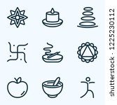 spiritual icons line style set... | Shutterstock .eps vector #1225230112