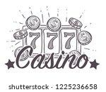 casino poster  gambling playing ...   Shutterstock .eps vector #1225236658