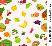 banana and watermelon  cherry... | Shutterstock .eps vector #1225236712