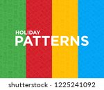 four different holiday seamless ...   Shutterstock .eps vector #1225241092