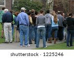 Stock photo backview of group of people 1225246