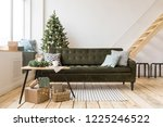 comfortable sofa standing in... | Shutterstock . vector #1225246522