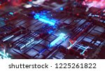hightech background  3d... | Shutterstock . vector #1225261822