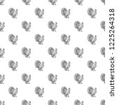 turkey cock pattern seamless... | Shutterstock .eps vector #1225264318