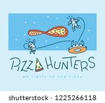 space pizza hunters is a vector ... | Shutterstock .eps vector #1225266118
