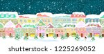 winter city landscape  seamless.... | Shutterstock .eps vector #1225269052