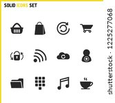interface icons set with wifi ...