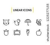 bee icon with umbrella  apple...