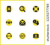 service icons set with group...   Shutterstock .eps vector #1225277785
