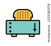slice toaster filled two color...   Shutterstock .eps vector #1225282378