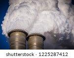 industrial chimney   air... | Shutterstock . vector #1225287412
