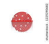 fingerprint scanning icon... | Shutterstock .eps vector #1225290682