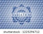 variation blue polygonal emblem. | Shutterstock .eps vector #1225296712