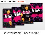 black friday sale inscription... | Shutterstock .eps vector #1225304842