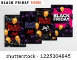 black friday sale inscription... | Shutterstock .eps vector #1225304845