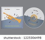 cd and cover template   vector... | Shutterstock .eps vector #1225306498