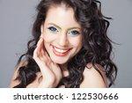 beautiful hair  portrait of an... | Shutterstock . vector #122530666