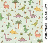 dinosaurs and prehistoric... | Shutterstock .eps vector #1225310395
