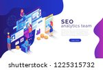 seo analysis and optimization... | Shutterstock .eps vector #1225315732