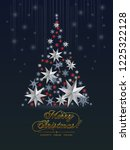 christmas greeting card  with ... | Shutterstock .eps vector #1225322128