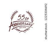 55 years design template.... | Shutterstock .eps vector #1225334692
