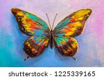 Stock photo oil painting beautiful butterfly 1225339165