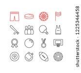 illustration of 16 fitness... | Shutterstock . vector #1225346458