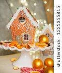 homemade christmas gingerbread... | Shutterstock . vector #1225355815
