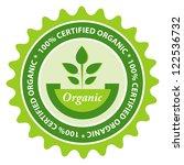 100  certified organic food...   Shutterstock .eps vector #122536732