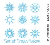 set of snowflakes for the... | Shutterstock .eps vector #1225372738