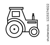 tractor line black icon | Shutterstock .eps vector #1225374022